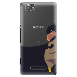 Plastové pouzdro iSaprio BaT Comics na mobil Sony Xperia M