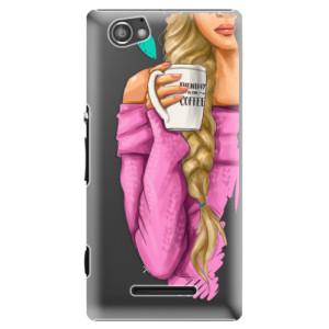 Plastové pouzdro iSaprio My Coffe and Blond Girl na mobil Sony Xperia M