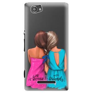 Plastové pouzdro iSaprio Best Friends na mobil Sony Xperia M