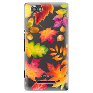 Plastové pouzdro iSaprio Autumn Leaves 01 na mobil Sony Xperia M