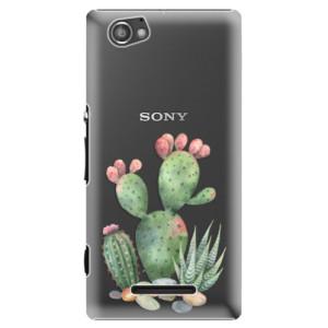 Plastové pouzdro iSaprio Cacti 01 na mobil Sony Xperia M