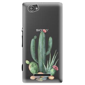 Plastové pouzdro iSaprio Cacti 02 na mobil Sony Xperia M