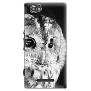 Plastové pouzdro iSaprio BW Owl na mobil Sony Xperia M