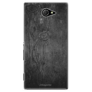 Plastové pouzdro iSaprio Black Wood 13 na mobil Sony Xperia M2