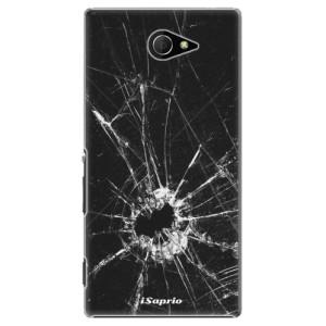 Plastové pouzdro iSaprio Broken Glass 10 na mobil Sony Xperia M2