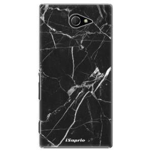 Plastové pouzdro iSaprio Black Marble 18 na mobil Sony Xperia M2