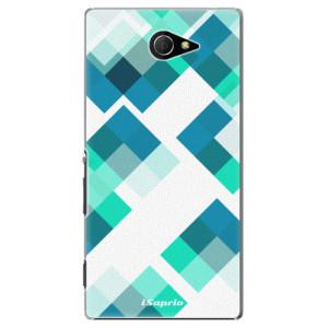 Plastové pouzdro iSaprio Abstract Squares 11 na mobil Sony Xperia M2