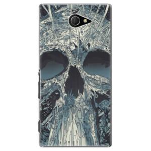 Plastové pouzdro iSaprio Abstract Skull na mobil Sony Xperia M2