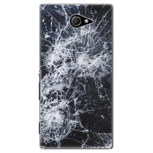 Plastové pouzdro iSaprio Cracked na mobil Sony Xperia M2