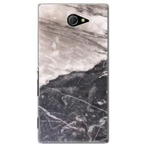 Plastové pouzdro iSaprio BW Marble na mobil Sony Xperia M2