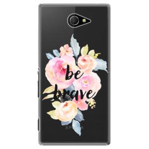 Plastové pouzdro iSaprio Be Brave na mobil Sony Xperia M2