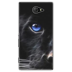 Plastové pouzdro iSaprio Black Puma na mobil Sony Xperia M2