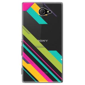 Plastové pouzdro iSaprio Color Stripes 03 na mobil Sony Xperia M2