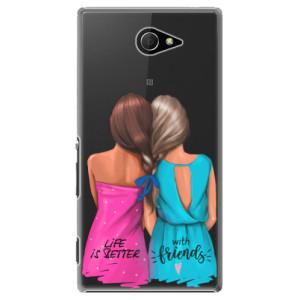 Plastové pouzdro iSaprio Best Friends na mobil Sony Xperia M2