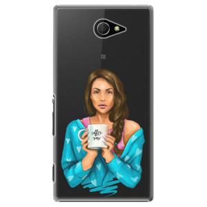 Plastové pouzdro iSaprio Coffe Now Brunette na mobil Sony Xperia M2