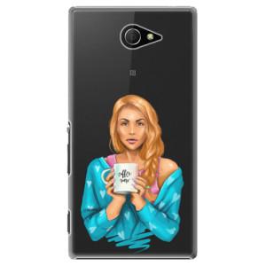 Plastové pouzdro iSaprio Coffe Now Redhead na mobil Sony Xperia M2