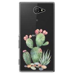 Plastové pouzdro iSaprio Cacti 01 na mobil Sony Xperia M2