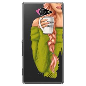 Plastové pouzdro iSaprio My Coffe and Redhead Girl na mobil Sony Xperia M2