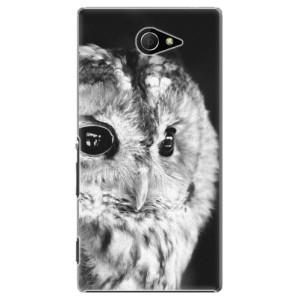 Plastové pouzdro iSaprio BW Owl na mobil Sony Xperia M2