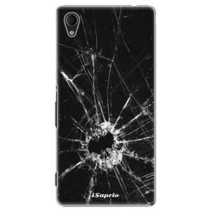 Plastové pouzdro iSaprio Broken Glass 10 na mobil Sony Xperia M4