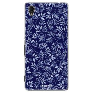 Plastové pouzdro iSaprio Blue Leaves 05 na mobil Sony Xperia M4