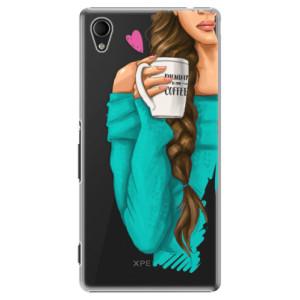 Plastové pouzdro iSaprio My Coffe and Brunette Girl na mobil Sony Xperia M4