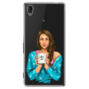 Plastové pouzdro iSaprio Coffe Now Brunette na mobil Sony Xperia M4