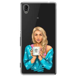 Plastové pouzdro iSaprio Coffe Now Blond na mobil Sony Xperia M4