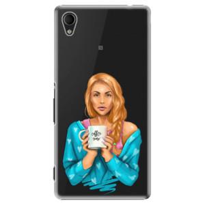 Plastové pouzdro iSaprio Coffe Now Redhead na mobil Sony Xperia M4