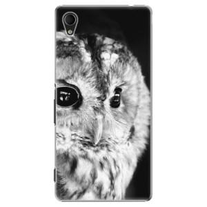 Plastové pouzdro iSaprio BW Owl na mobil Sony Xperia M4