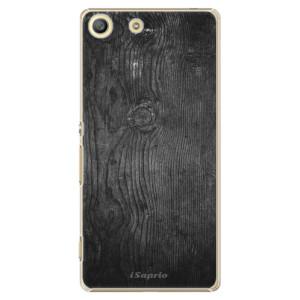 Plastové pouzdro iSaprio Black Wood 13 na mobil Sony Xperia M5