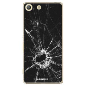 Plastové pouzdro iSaprio Broken Glass 10 na mobil Sony Xperia M5