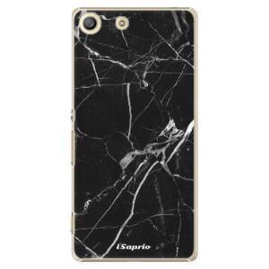 Plastové pouzdro iSaprio Black Marble 18 na mobil Sony Xperia M5