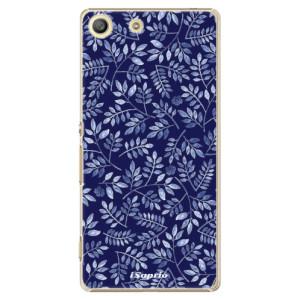 Plastové pouzdro iSaprio Blue Leaves 05 na mobil Sony Xperia M5