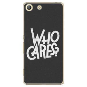 Plastové pouzdro iSaprio Who Cares na mobil Sony Xperia M5