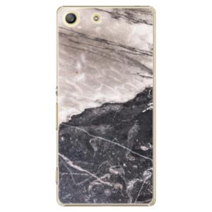 Plastové pouzdro iSaprio BW Marble na mobil Sony Xperia M5