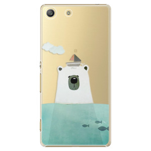 Plastové pouzdro iSaprio Bear With Boat na mobil Sony Xperia M5