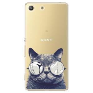 Plastové pouzdro iSaprio Crazy Cat 01 na mobil Sony Xperia M5