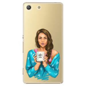 Plastové pouzdro iSaprio Coffe Now Brunette na mobil Sony Xperia M5