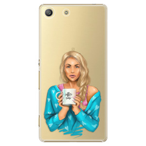 Plastové pouzdro iSaprio Coffe Now Blond na mobil Sony Xperia M5