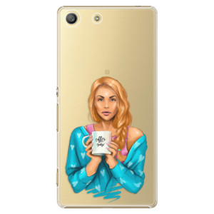 Plastové pouzdro iSaprio Coffe Now Redhead na mobil Sony Xperia M5