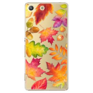 Plastové pouzdro iSaprio Autumn Leaves 01 na mobil Sony Xperia M5