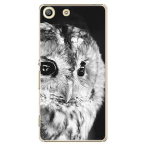 Plastové pouzdro iSaprio BW Owl na mobil Sony Xperia M5