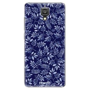 Plastové pouzdro iSaprio Blue Leaves 05 na mobil Xiaomi Mi4