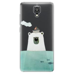 Plastové pouzdro iSaprio Bear With Boat na mobil Xiaomi Mi4
