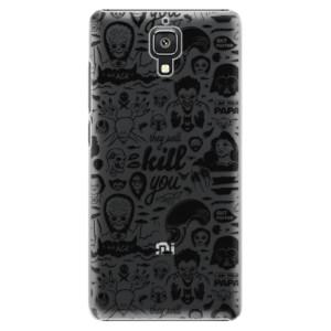 Plastové pouzdro iSaprio Comics 01 black na mobil Xiaomi Mi4