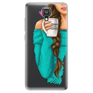 Plastové pouzdro iSaprio My Coffe and Brunette Girl na mobil Xiaomi Mi4