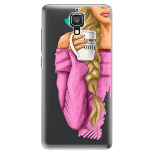 Plastové pouzdro iSaprio My Coffe and Blond Girl na mobil Xiaomi Mi4