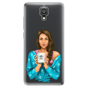 Plastové pouzdro iSaprio Coffe Now Brunette na mobil Xiaomi Mi4