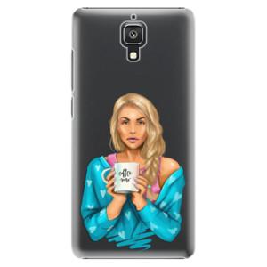 Plastové pouzdro iSaprio Coffe Now Blond na mobil Xiaomi Mi4